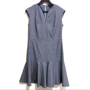 Etcetera Chambray Tweed Skater Dress